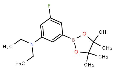 BP23595   2121511-42-8   3-Fluoro-N,N-diethyl-5-(4,4,5,5-tetramethyl-1,3,2-dioxaborolan-2-yl)aniline