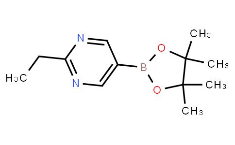 BP23837   1235450-87-9   2-Ethyl-5-(4,4,5,5-tetramethyl-1,3,2-dioxaborolan-2-yl)pyrimidine