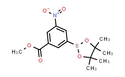BP23947 | 957061-12-0 | Methyl 3-nitro-5-(4,4,5,5-tetramethyl-1,3,2-dioxaborolan-2-yl)benzoate
