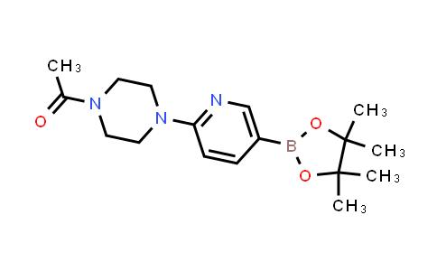 BP24157   1073372-01-6   1-(4-(5-(4,4,5,5-tetramethyl-1,3,2-dioxaborolan-2-yl)pyridin-2-yl)piperazin-1-yl)ethanone