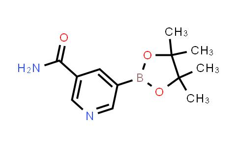 BP24266   1169402-51-0   5-(4,4,5,5-tetramethyl-1,3,2-dioxaborolan-2-yl)nicotinamide