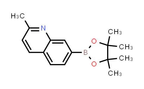 2-methyl-7-(4,4,5,5-tetramethyl-1,3,2-dioxaborolan-2-yl)quinoline