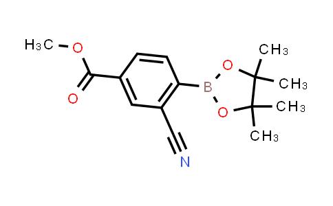 methyl 3-cyano-4-(4,4,5,5-tetramethyl-1,3,2-dioxaborolan-2-yl)benzoate