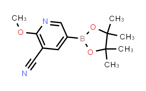 2-methoxy-5-(4,4,5,5-tetramethyl-1,3,2-dioxaborolan-2-yl)nicotinonitrile