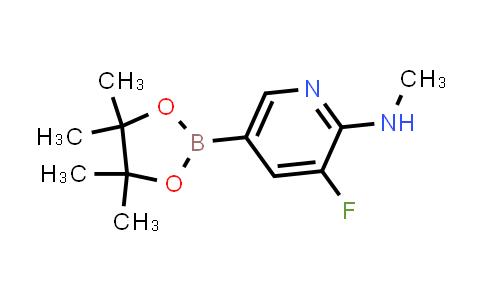 3-fluoro-N-methyl-5-(4,4,5,5-tetramethyl-1,3,2-dioxaborolan-2-yl)pyridin-2-amine