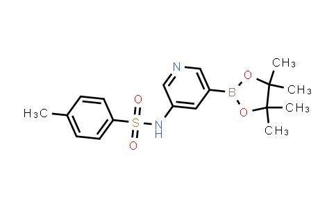 4-methyl-N-(5-(4,4,5,5-tetramethyl-1,3,2-dioxaborolan-2-yl)pyridin-3-yl)benzenesulfonamide