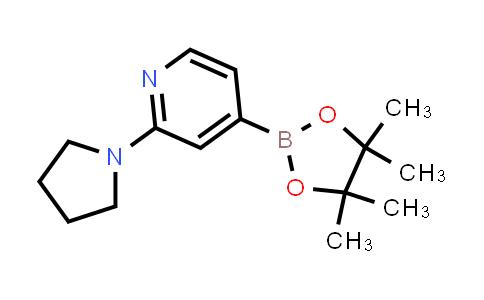 2-(pyrrolidin-1-yl)-4-(4,4,5,5-tetramethyl-1,3,2-dioxaborolan-2-yl)pyridine