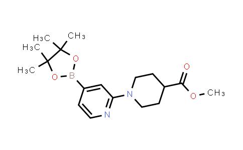 methyl 1-(4-(4,4,5,5-tetramethyl-1,3,2-dioxaborolan-2-yl)pyridin-2-yl)piperidine-4-carboxylate
