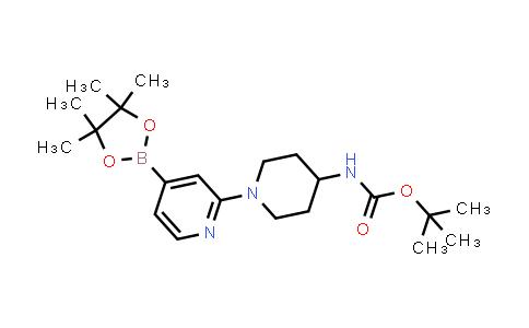tert-butyl (1-(4-(4,4,5,5-tetramethyl-1,3,2-dioxaborolan-2-yl)pyridin-2-yl)piperidin-4-yl)carbamate
