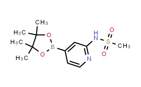 N-(4-(4,4,5,5-tetramethyl-1,3,2-dioxaborolan-2-yl)pyridin-2-yl)methanesulfonamide