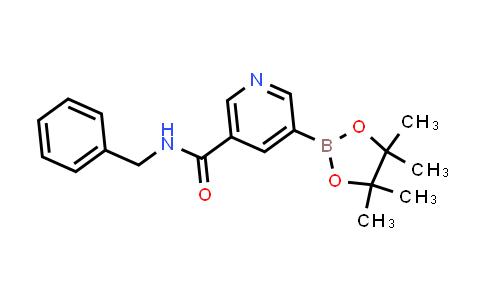 N-benzyl-5-(4,4,5,5-tetramethyl-1,3,2-dioxaborolan-2-yl)nicotinamide