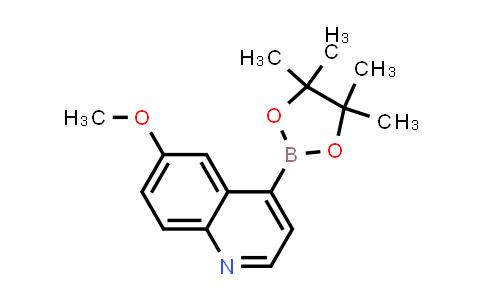 6-methoxy-4-(4,4,5,5-tetramethyl-1,3,2-dioxaborolan-2-yl)quinoline