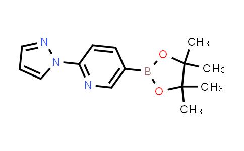2-(1H-pyrazol-1-yl)-5-(4,4,5,5-tetramethyl-1,3,2-dioxaborolan-2-yl)pyridine