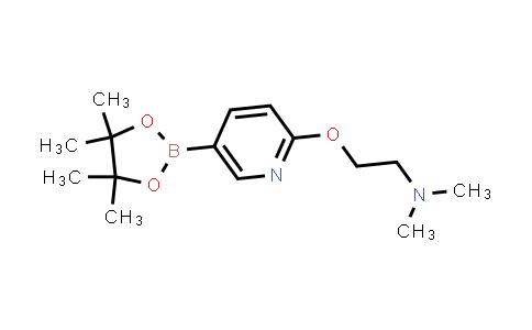 N,N-dimethyl-2-((5-(4,4,5,5-tetramethyl-1,3,2-dioxaborolan-2-yl)pyridin-2-yl)oxy)ethanamine