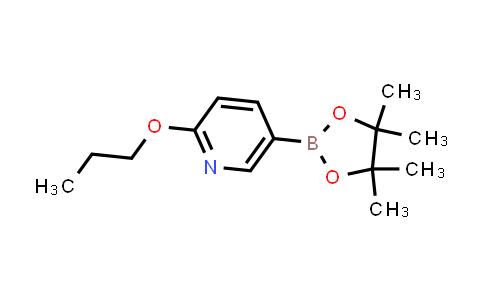 2-propoxy-5-(4,4,5,5-tetramethyl-1,3,2-dioxaborolan-2-yl)pyridine