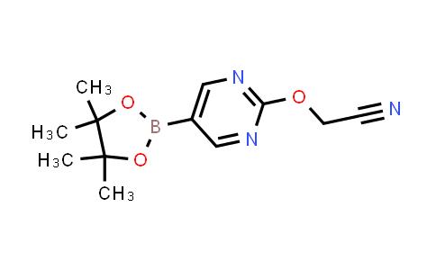 2-((5-(4,4,5,5-tetramethyl-1,3,2-dioxaborolan-2-yl)pyrimidin-2-yl)oxy)acetonitrile