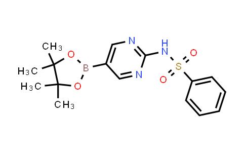 N-(5-(4,4,5,5-tetramethyl-1,3,2-dioxaborolan-2-yl)pyrimidin-2-yl)benzenesulfonamide