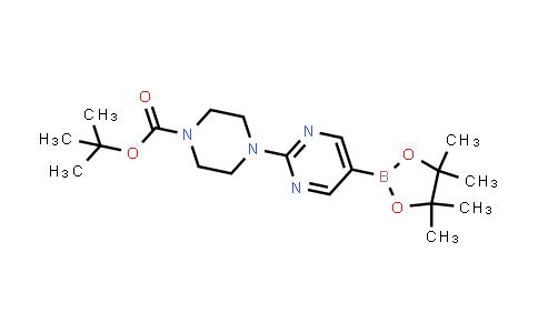 tert-butyl 4-(5-(4,4,5,5-tetramethyl-1,3,2-dioxaborolan-2-yl)pyrimidin-2-yl)piperazine-1-carboxylate