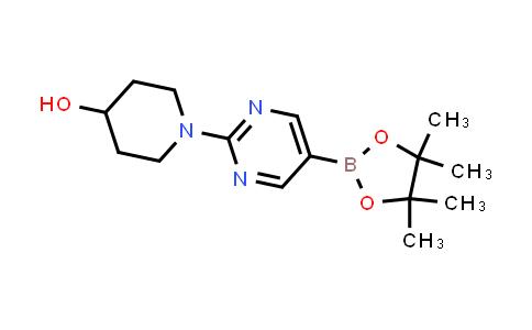 1-(5-(4,4,5,5-tetramethyl-1,3,2-dioxaborolan-2-yl)pyrimidin-2-yl)piperidin-4-ol
