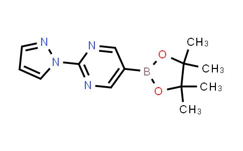 2-(1H-pyrazol-1-yl)-5-(4,4,5,5-tetramethyl-1,3,2-dioxaborolan-2-yl)pyrimidine