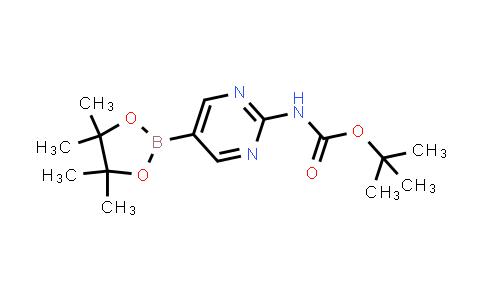 tert-butyl (5-(4,4,5,5-tetramethyl-1,3,2-dioxaborolan-2-yl)pyrimidin-2-yl)carbamate
