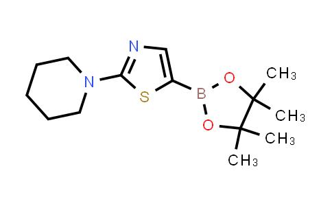 2-(piperidin-1-yl)-5-(4,4,5,5-tetramethyl-1,3,2-dioxaborolan-2-yl)thiazole