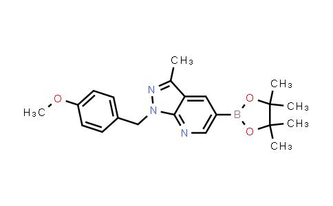 1-(4-methoxybenzyl)-3-methyl-5-(4,4,5,5-tetramethyl-1,3,2-dioxaborolan-2-yl)-1H-pyrazolo[3,4-b]pyridine