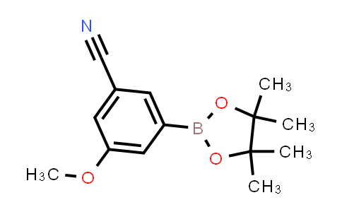 3-methoxy-5-(4,4,5,5-tetramethyl-1,3,2-dioxaborolan-2-yl)benzonitrile