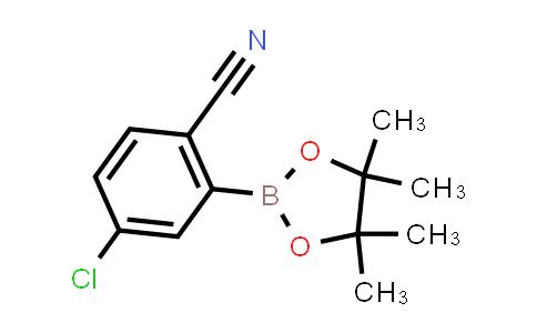 4-chloro-2-(4,4,5,5-tetramethyl-1,3,2-dioxaborolan-2-yl)benzonitrile