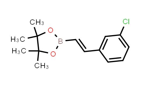 (E)-2-(3-chlorostyryl)-4,4,5,5-tetramethyl-1,3,2-dioxaborolane