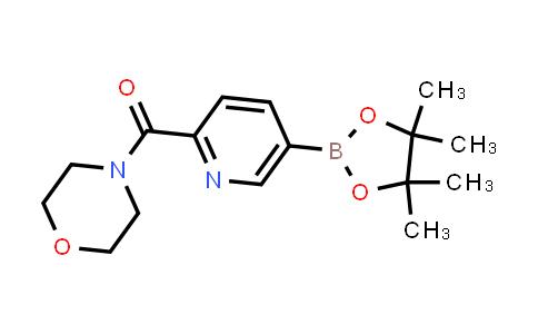BP24563 | 1201644-47-4 | morpholino(5-(4,4,5,5-tetramethyl-1,3,2-dioxaborolan-2-yl)pyridin-2-yl)methanone