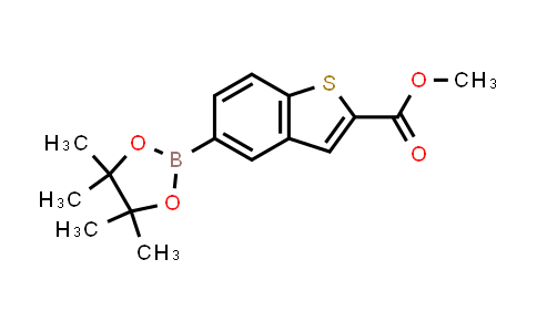 methyl 5-(4,4,5,5-tetramethyl-1,3,2-dioxaborolan-2-yl)benzo[b]thiophene-2-carboxylate