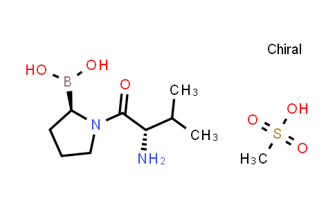 BP24680 | 150080-09-4 | methanesulfonic acid compound with ((R)-1-((S)-2-amino-3-methylbutanoyl)pyrrolidin-2-yl)boronic acid (1:1)