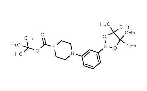 tert-butyl 4-(3-(4,4,5,5-tetramethyl-1,3,2-dioxaborolan-2-yl)phenyl)piperazine-1-carboxylate