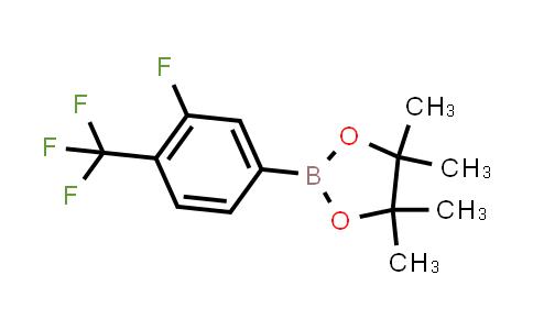 2-(3-fluoro-4-(trifluoromethyl)phenyl)-4,4,5,5-tetramethyl-1,3,2-dioxaborolane