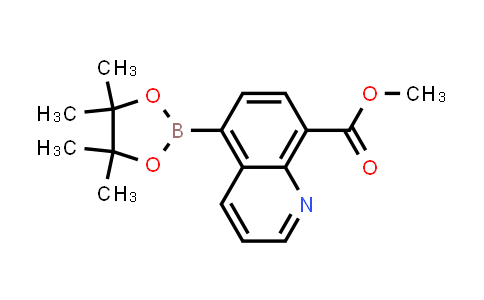 BP24716 | 1627722-90-0 | methyl 5-(4,4,5,5-tetramethyl-1,3,2-dioxaborolan-2-yl)quinoline-8-carboxylate