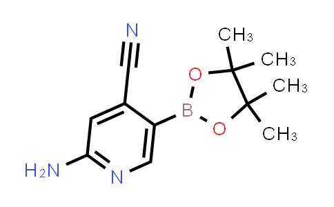 2-amino-5-(4,4,5,5-tetramethyl-1,3,2-dioxaborolan-2-yl)isonicotinonitrile