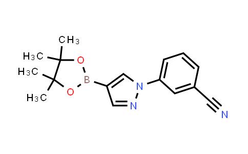 3-(4-(4,4,5,5-tetramethyl-1,3,2-dioxaborolan-2-yl)-1H-pyrazol-1-yl)benzonitrile