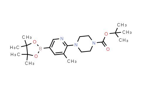 tert-butyl 4-(3-methyl-5-(4,4,5,5-tetramethyl-1,3,2-dioxaborolan-2-yl)pyridin-2-yl)piperazine-1-carboxylate