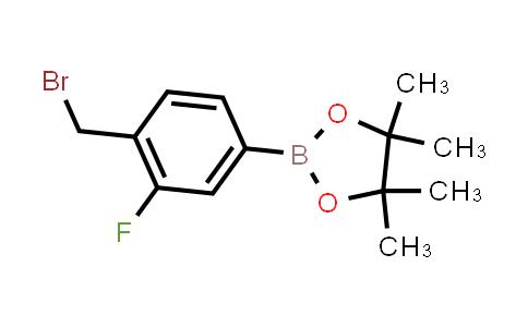2-(4-(BROMOMETHYL)-3-FLUOROPHENYL)-4,4,5,5-TETRAMETHYL-1,3,2-DIOXABOROLANE