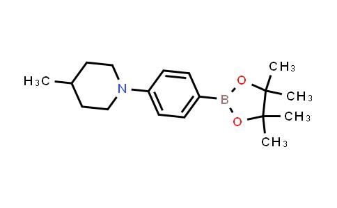 4-methyl-1-(4-(4,4,5,5-tetramethyl-1,3,2-dioxaborolan-2-yl)phenyl)piperidine