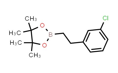 2-(3-Chlorophenethyl)-4,4,5,5-tetramethyl-1,3,2-dioxaborolane