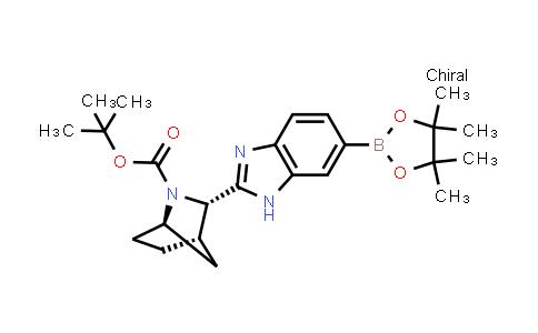 BP24965 | 1256387-87-7 | (1R,3S,4S)-3-[6-(4,4,5,5-Tetramethyl-1,3,2-dioxaborolan-2-yl)-1H-benzimidazol-2-yl]-2-azabicyclo[2.2.1]heptane-2-carboxylic acid 1,1-dimethylethyl ester