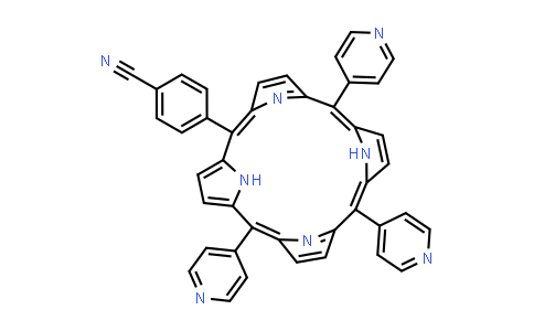 5-mono(4-cyanophenyl)-10,15,20-tri(4-pyridyl) porphine