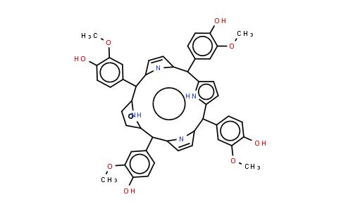 meso-Tetra(3-methoxy-4-hydroxyphenyl) porphine