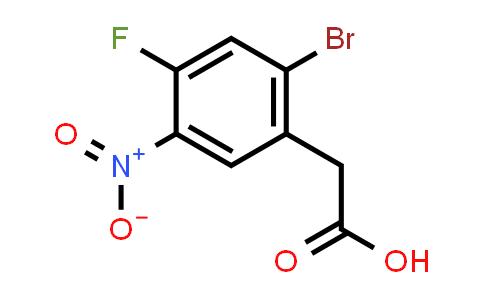 BF12522 | 1012879-09-2 | 2-Bromo-4-fluoro-5-nitrobenzeneacetic acid