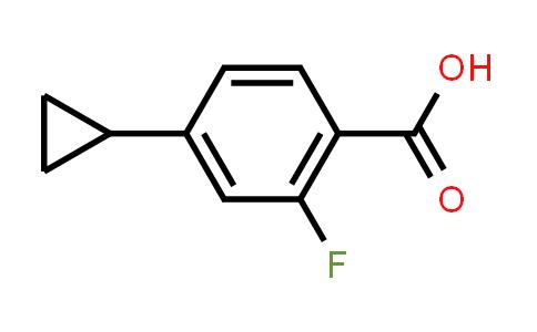 BF12452 | 1247927-81-6 | 4-Cyclopropyl-2-fluorobenzoic acid