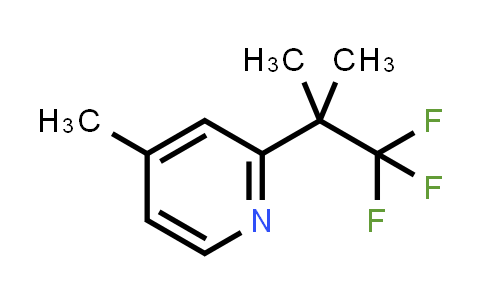 BF12390 | 1378865-93-0 | 4-Methyl-2-(1,1,1-trifluoro-2-methylpropan-2-yl)pyridine