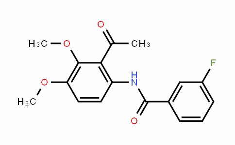 1256037-07-6 | N-(2-acetyl-3,4-dimethoxyphenyl)-3-fluorobenzamide