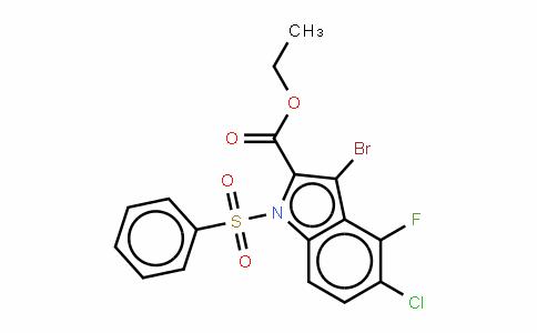 1018450-46-8 | 1-Benzenesulfony-3-bromo-5-chloro-4-fluoro-1H-indole-2-carboxylic acid ethyl ester